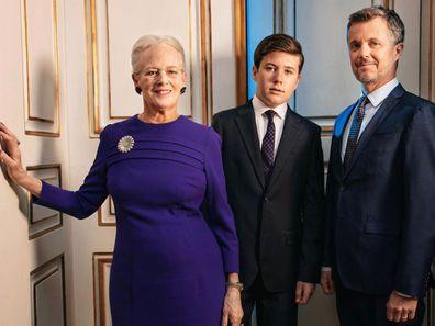 Queen Margrethe, Prince Christian, Prince Frederik
