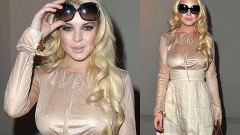Lindsay Lohan's lopsided nipples
