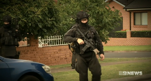 Police said the intent was to put criminals on notice. Picture: 9NEWS