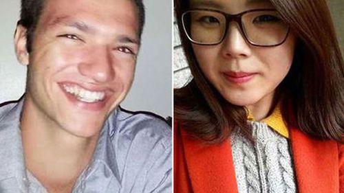 Alex McEwan (left) has been found guilty of the murder of  Eunji Ban.