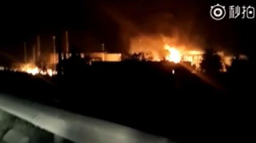 Nine injured in new Chinese chemical plant blast