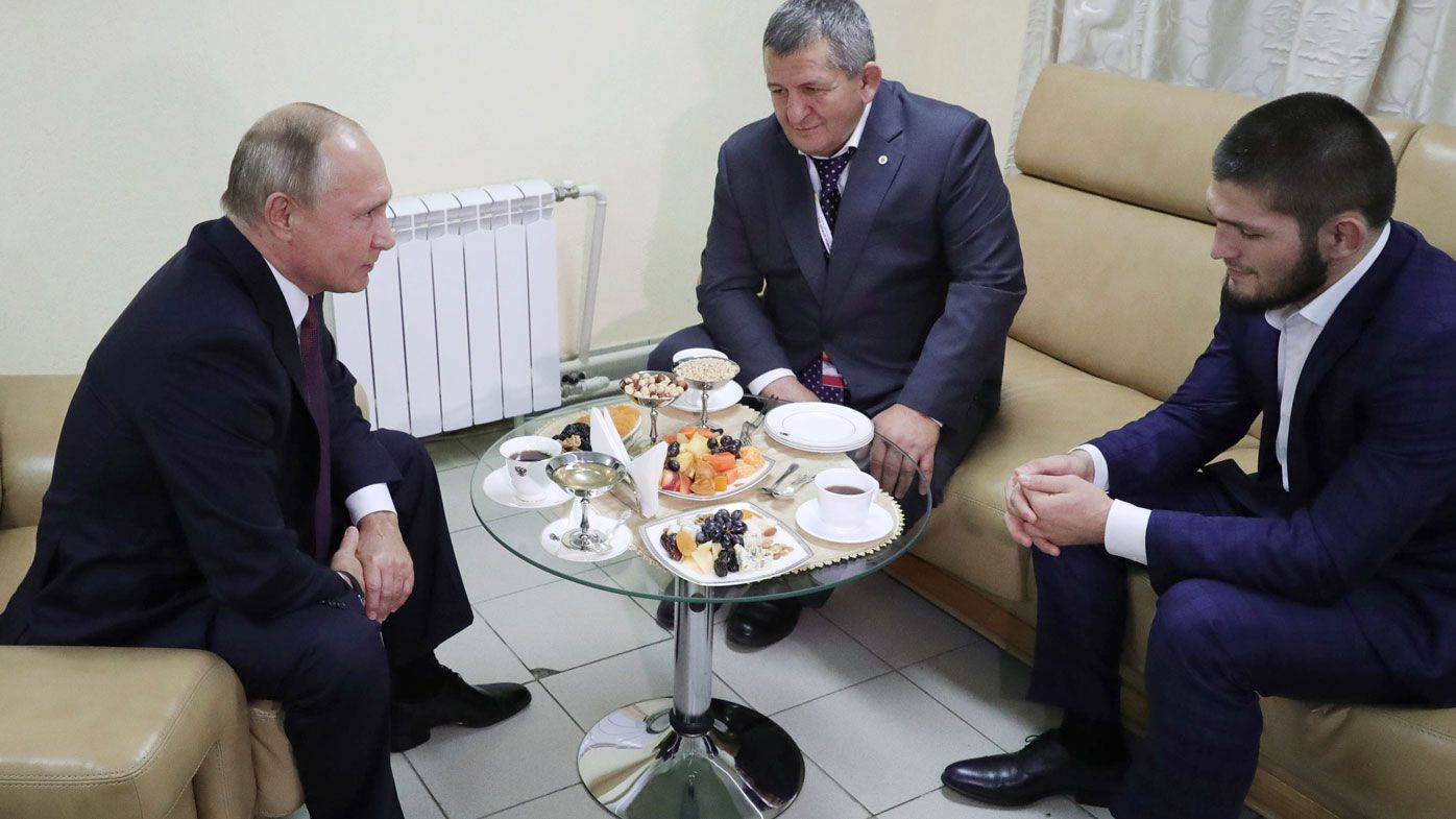 Vladimir Putin asks Khabib Nurmagomedov's dad to go easy on him after UFC brawl