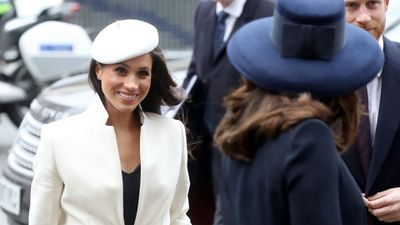 <p>Kate and Meghan's friendship: Commonwealth Day, March 2018</p>