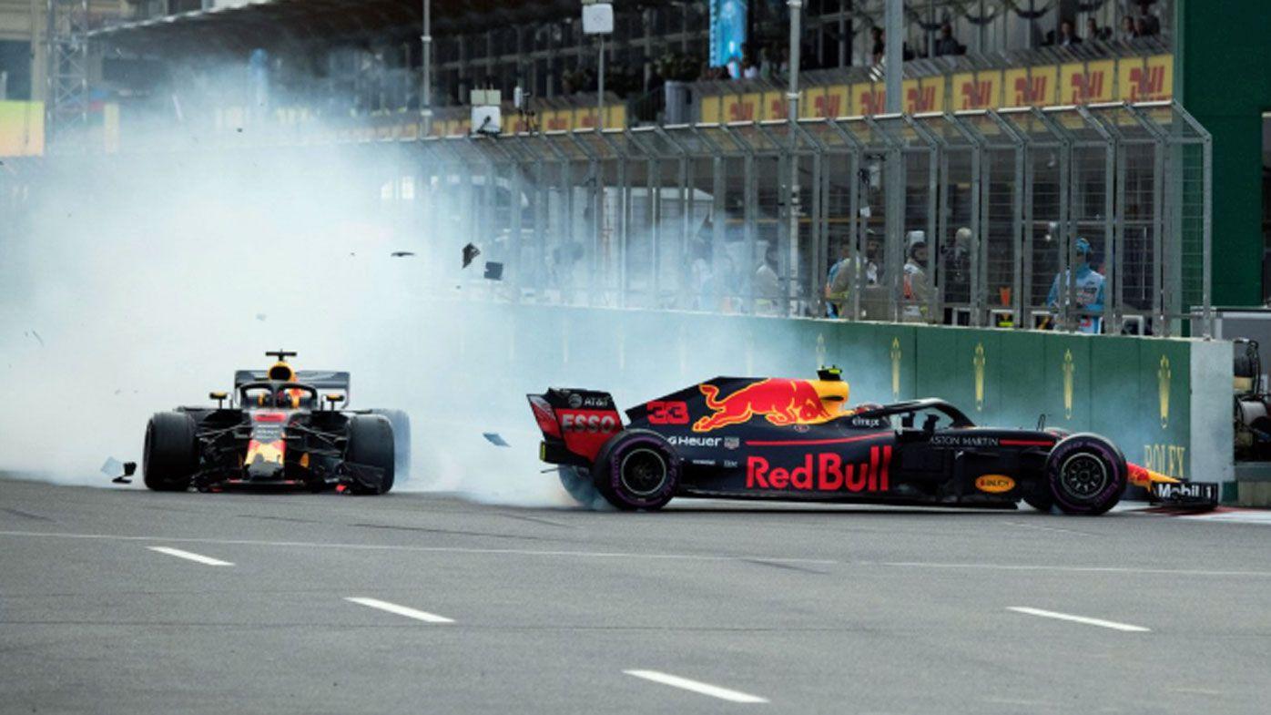 Australian Daniel Ricciardo's crash with teammate Max Verstappen infuriates Red Bull bosses at Azerbaijan Grand Prix