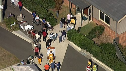 Firefighters and paramedics were called to the nursing home just after 9am (9NEWS)