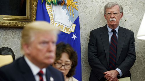 Former national security adviser John Bolton said Donald Trump supported China's plan to build more concentration camps.