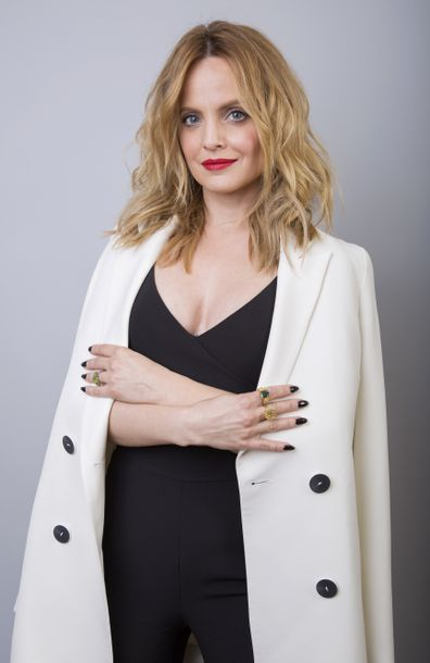 Mena Suvari cast member in the Paramount Network series American Woman, poses for a portrait during the Television Critics Association Winter Press Tour on Jan. 15, 2018, in Pasadena, Calif.