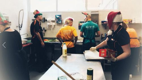 GIVIT staff working with the Starlight Children's Foundation at Ronald McDonald House in Perth. (GIVIT / Facebook)