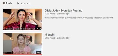 Olivia Jade Giannulli, YouTube, account