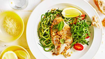 Low carb chicken with zucchini noodles