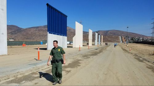 Eight candidates for the Trump border all are on display.