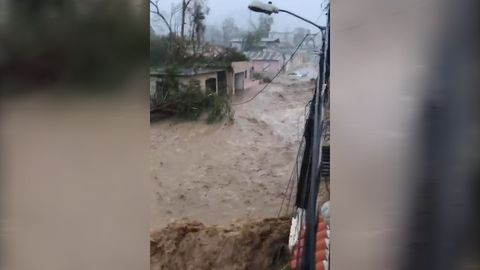 9RAW: Puerto Rico street turns into river