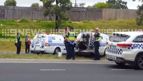 The 26-year-old woman has been arrested and faces a series of charges. (9NEWS)