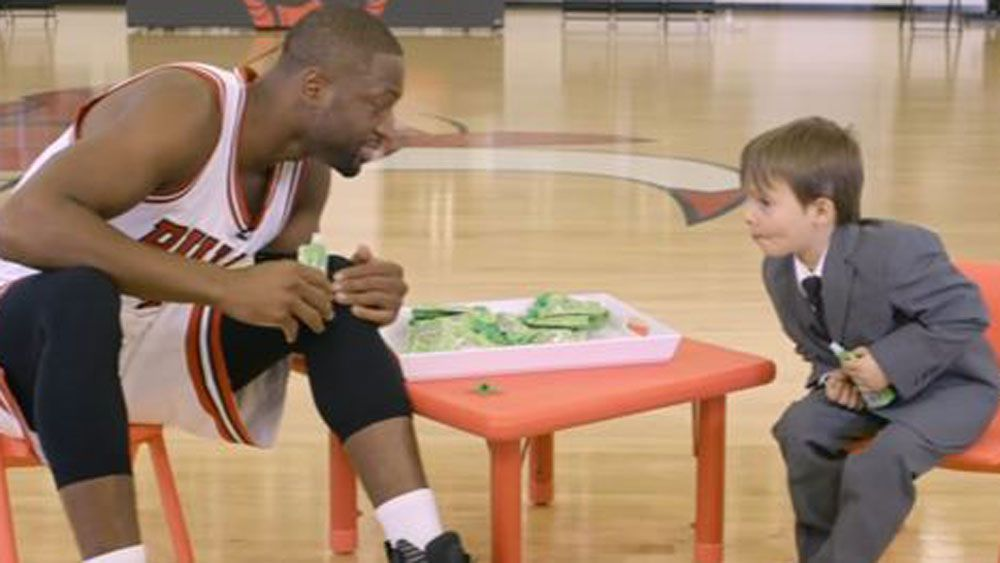 Child reporter gets the truth from NBA star Dwyane Wade