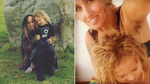 Vinny Skulldali and her son Nalu. (Supplied)