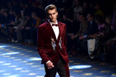 <p>Dolce &amp; Gabbana has debuted its new collection in Milan and caused a flutter. Yes, the pieces were ground-breaking, kitsch and cool. But it wasn't that which created a buzz but the gaggle of social media stars and the offspring of Hollywood's rich and famous who brought it down the runway.</p> <p>The elaborately-detailed clothing, decorated with imagery of big cats, hunting dogs and cartoon-style boys wearing glasses, took something of a backseat with the attention firmly focused on the models/stars who swept along the catwalk like seasoned professionals.</p> <p>Whether this was an attention-gaining stunt or, a fashion-forward move was the hotly contested topic of the day. Stefano Gabbana himself insisted that the youthful group brought an energy and enthusiasm that he hadn't experienced since his early days in fashion.</p> <p>The following shots certainly feel special. Click through and see if you agree. Do some celebrity spotting while you're at it. Let's start with Presley Gerber - offspring of supermodel Cindy Crawford and businessman Rande Gerber. Handsome yes? Next!</p> <p>Image: Getty.</p>