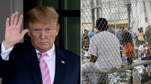 President Donald Trump says he's not looking to revive the much-criticized practice of separating migrant children from their families at the southern border.