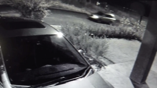 CCTV of a car believed to be linked to the murder of Kevin Kourtis.