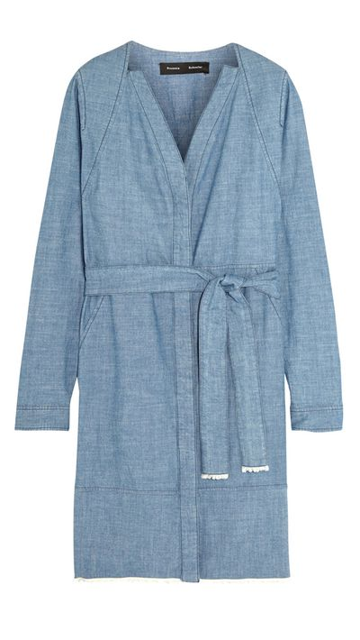 "<a href=""http://www.net-a-porter.com/product/570028/Proenza_Schouler/cotton-chambray-dress"" target=""_blank"">Dress, $907.83, Proenza Schouler at net-a-porter.com</a>"