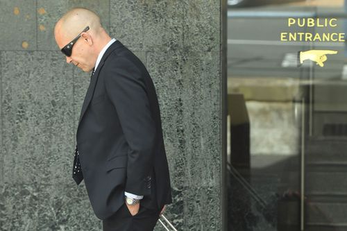 Mr Renshaw, who claims a newsagent binned his winning lotto ticket, outside court today. (9NEWS)