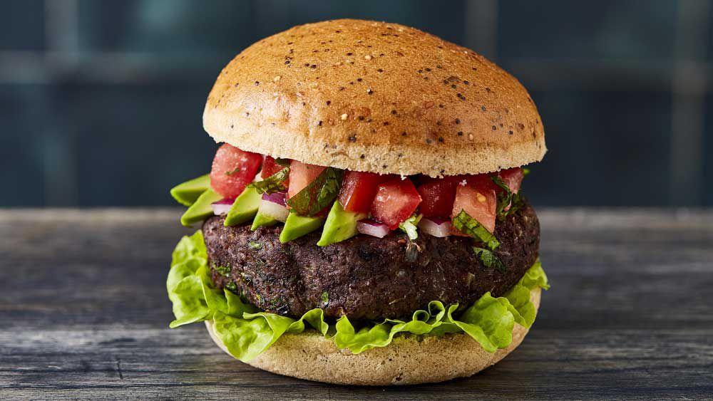 Bar Luca's captain blackbean vegetarian burger