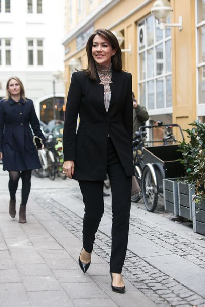 Crown Princess Mary of Denmark arrives at the world premiere of the documentary<em> Jaha's Promise</em> at the opening of Copenhagen Documentary Film Festival on March 16, 2017.