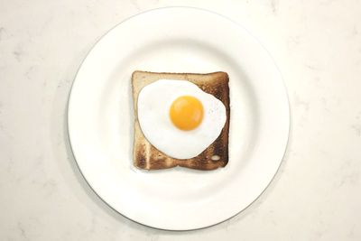 Fried egg on toast: 281 calories