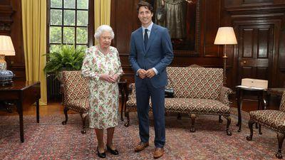 Justin Trudeau meets Queen Elizabeth