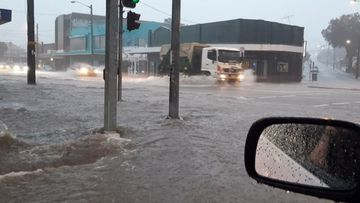 Newcastle flooding July 27, 2020.