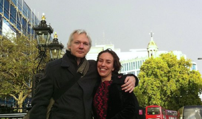 The couple met and fell in love during his time in the Ecuador Embassy in London.