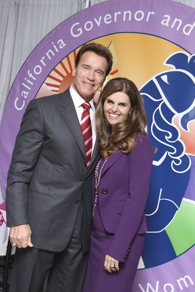Arnold Schwarzenegger and Maria Shriver attend The 2008 Women's Conference on October 22, 2008 in Long Beach, California.