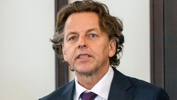 Dutch Foreign Minister Bert Koenders visited Ukraine for a ceremony at the Kharkiv International Airport on November 8 to honour those who died in the downing of MH17. (AAP)