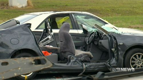 The 23-year-old driver of the ute has not been charged. (9NEWS)