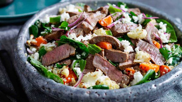Lamb salad with cauliflower