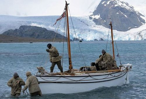 A re-enactment of Shackleton's epic escape to South Georgia was staged in 2013. (AP)