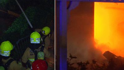 Fire sparked by electrical fault destroys Sydney home
