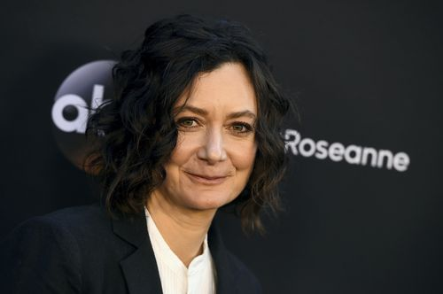 Roseanne actress Sara Gilbert left the show before it was cancelled. Picture: AAP