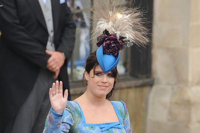"""Little sis Eugenie rocked some pretty weird headgear that day, too.<br/><br/>RELATED: <a href=""""http://celebrities.ninemsn.com.au/slideshow_ajax.aspx?sectionid=8847&sectionname=slideshowajax&subsectionid=7776183&subsectionname=horsefacedcelebs"""">Celebrities who look like horses</a>"""