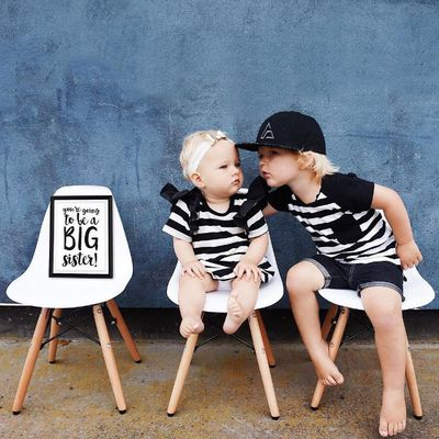 You are going to be a big sister ...