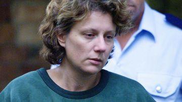 Kathleen Folbigg leaving Maitland Court in 2004.