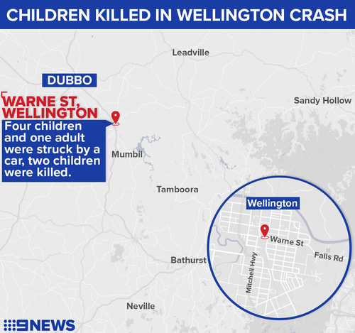 Two children have been killed in a car crash inn Wellington, NSW.