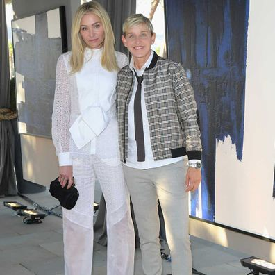 Portia de Rossi and Ellen DeGeneres attend GENERAL PUBLIC x RH Celebration at Restoration Hardware on June 27, 2018.