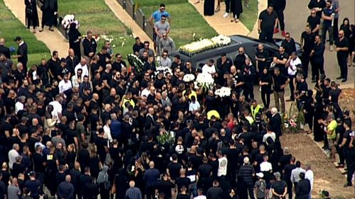 Mourners farwelled Hawi at a funeral in Arncliffe one week after the execution. (AAP)
