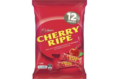 Fun-size Cherry Ripe: About 1.75 teaspoons of sugar