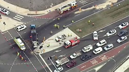 Diesel spill causes traffic delays in Leppington after truck and ute crash