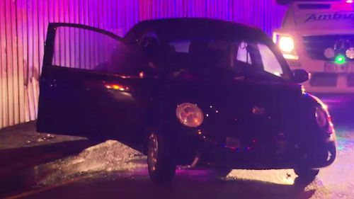 Police believe the driver lost control in wet conditions. (9NEWS)