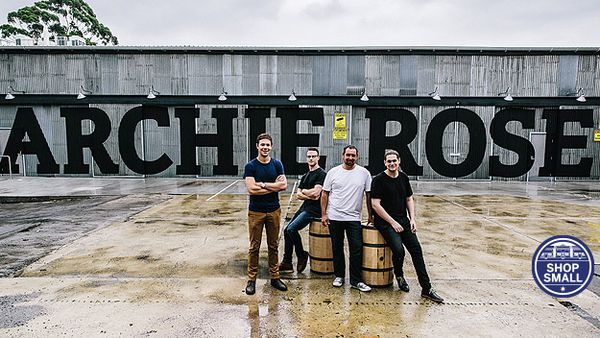 Will Edwards, Joe Dinsmoor, Nigel Weisbaum and Dave Withers (Archie Rose Distilling Co)