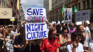 Protesters in Sydney.