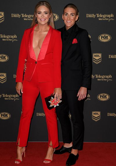 Kate Daly and Ali Brigginshaw at the 2019 Dally M Awards
