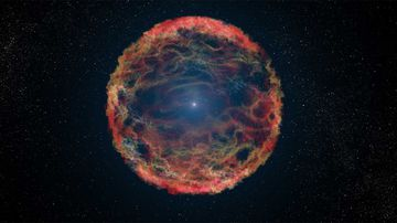 A NASA depiction of a supernova star.